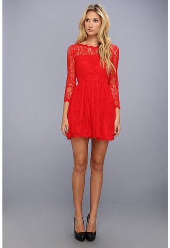 Juicy Couture - Delicate Lace Dress (Lipstick Red) - Apparel