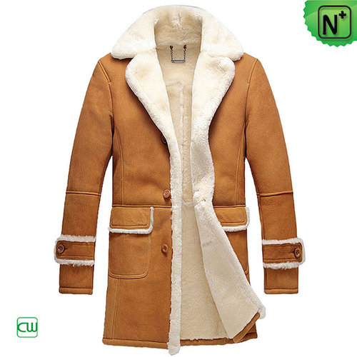 Mens Leather Shearling Coat CW878604