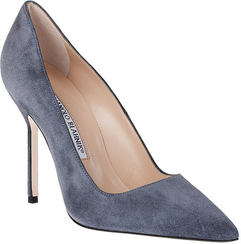 Manolo Blahnik BB 105 grey suede pump