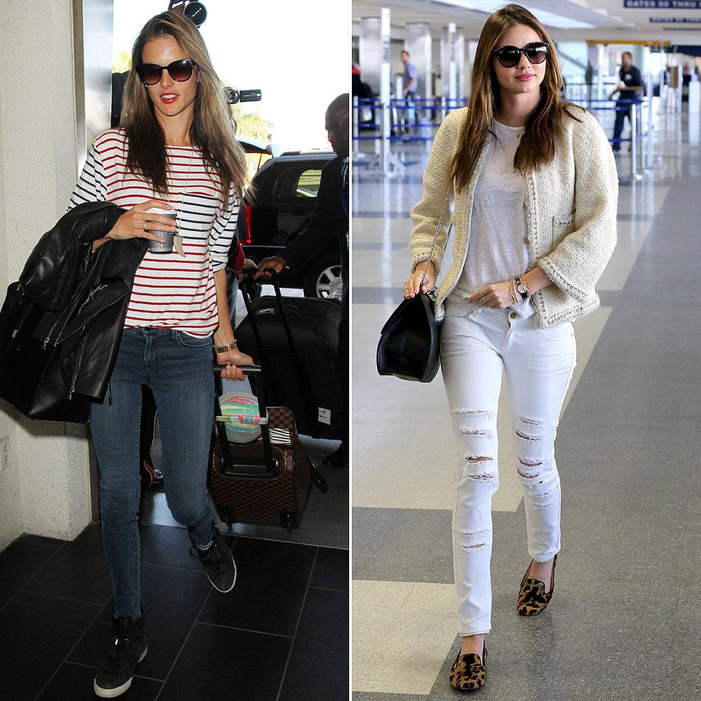 Celebrity Airport Style Miranda Kerr Jessica Alba More Popsugar Fashion Australia