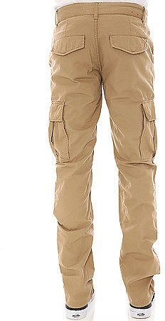 LRG The Core Collection Slim Straight Cargo Pants in British Khaki
