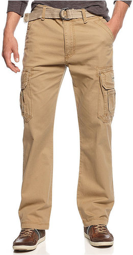 Unionbay Union Bay Pants, Survivor Belted Cargo Pants