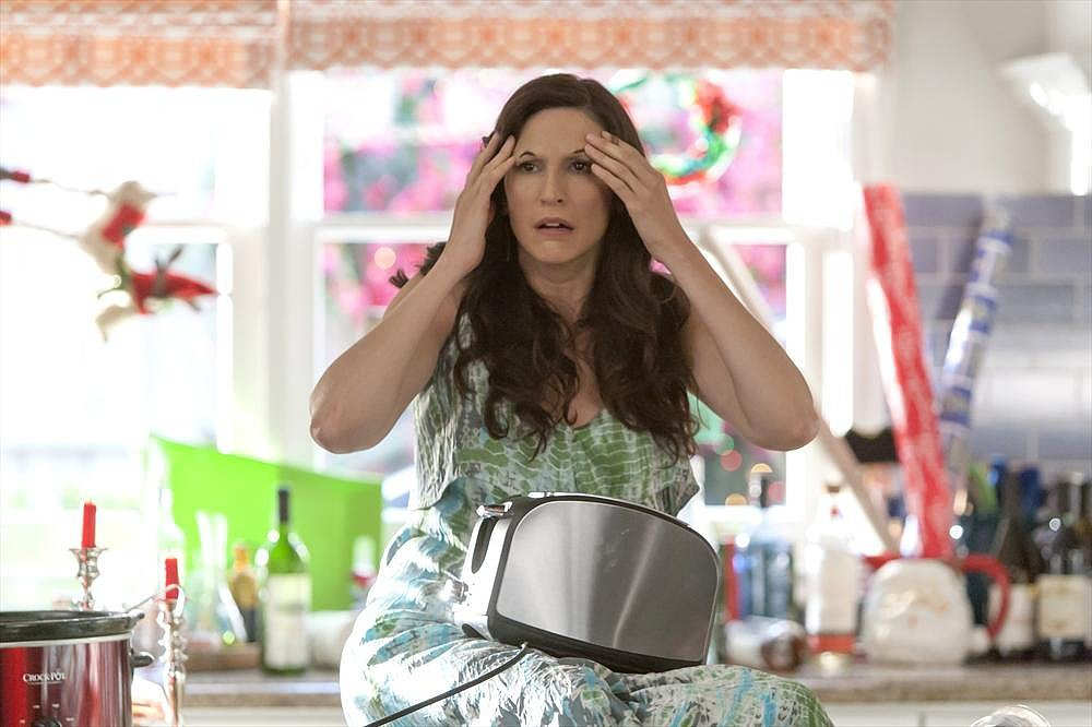 Trophy Wife Jackie (Michaela Watkins) has an eyebrow malfunction on Trophy Wife.