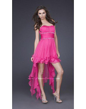 La Femme 15087 Hot Pink Dresses for Homecoming