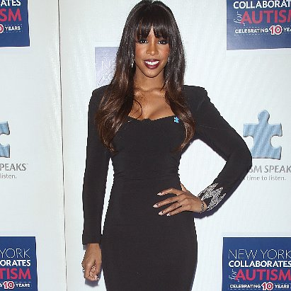 Kelly Rowland in Black Dress at Autism Ball