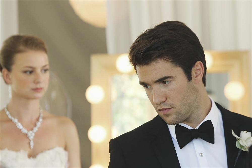 The soon-to-be-newlyweds exchange some serious words once they're alone.