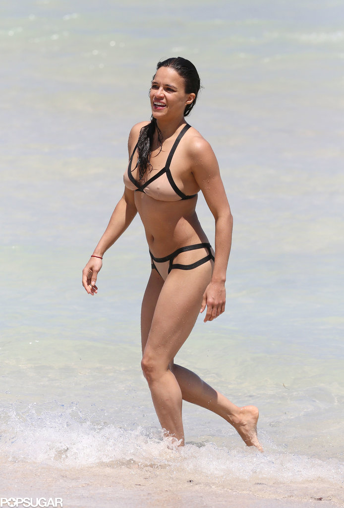 Michelle Rodriguez took a dip during an April trip to Miami.