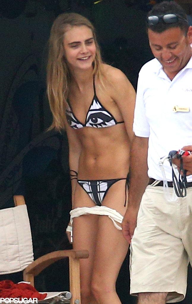 Bikini model stripping