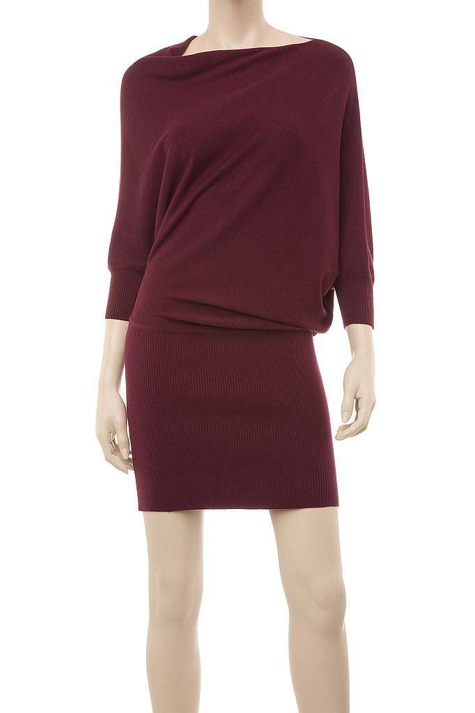 Simple, but the draped shape on this Max Studio Knitted Asymmetrical Sweater Dress ($118) makes it just a little sexier.