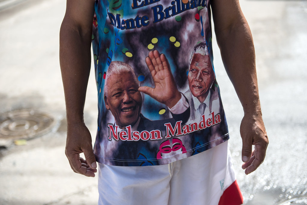A man in Brazil wore a shirt featuring the world leader.