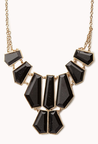 FOREVER 21 Angular Gemstones Necklace