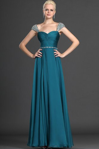 Prom Dresses A Line Floor Length Square Chiffon Sequince