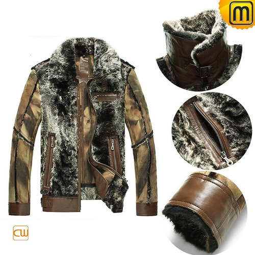 Leather Sheepskin Jacket for Men CW868004
