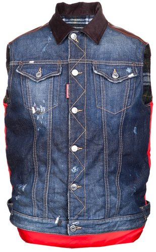 DSQUARED2 denim puffer vest