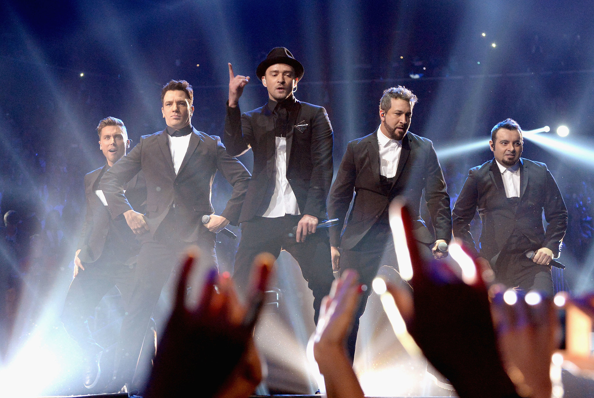 Justin Timberlake performed for a whopping 20 minutes at the MTV VMAs, where he was also joined on stage by his former *NSYNC bandmates.