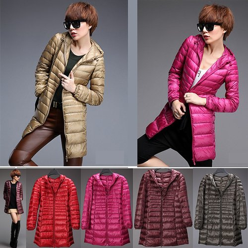 Discount Korean Fashion winter ladies' down jackets hooded long coat casual outerwear down coats in women down parkas on sightfa