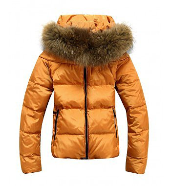 Warm Slim Short Thicken Down Outerwear Coats With Fur Collar