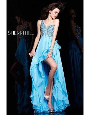 2014 Sherri Hill 3855 Prom Dresses Blue