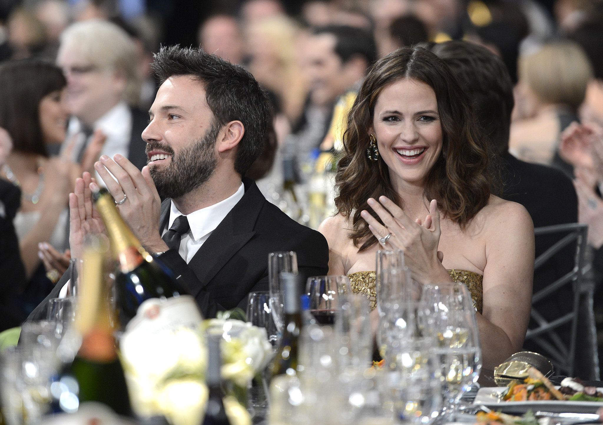 Jennifer Garner and Ben Affleck smiled big in the audience at the SAGs.