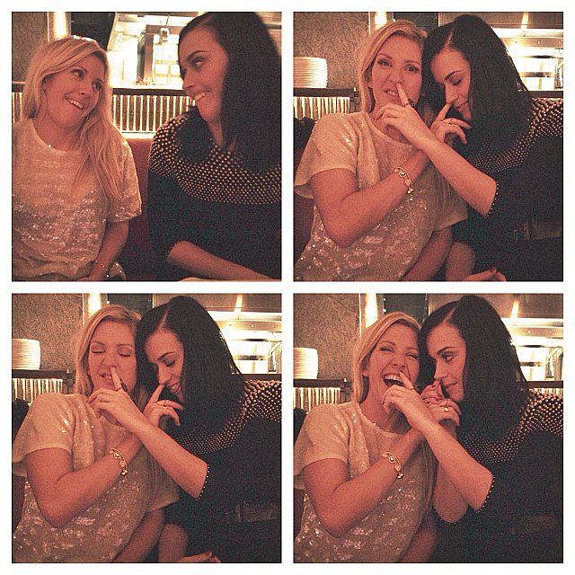 Katy Perry and Ellie Goulding goofed around together. Source: Instagram user elliegoulding