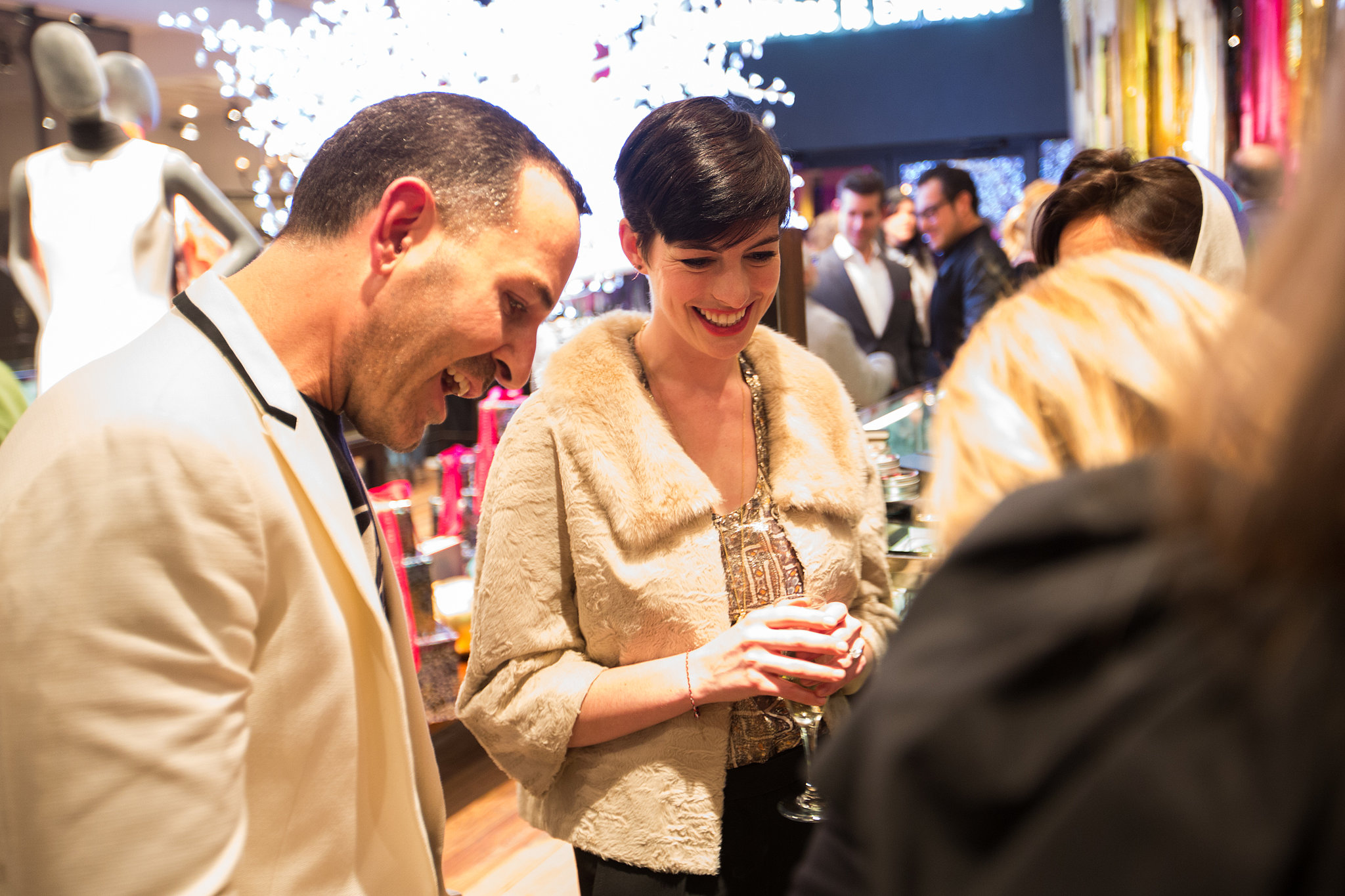 Anne Hathaway at the Bonjour Y'all party in Dallas. Photo courtesy of Forty Five Ten