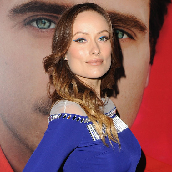 Olivia Wilde's Baby Bump In Blue Dress At Her Premiere
