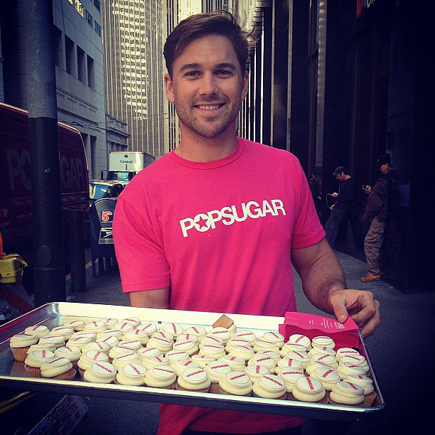 Nothing like a POPSUGAR hunk to make a much-needed cupcake delivery.