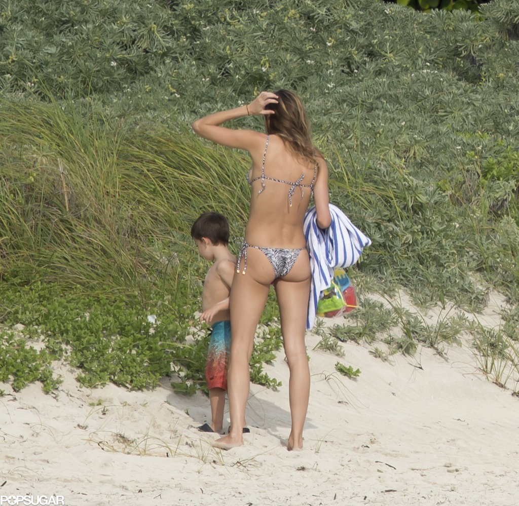 Gisele Bündchen wore a Brazilian-cut bikini.