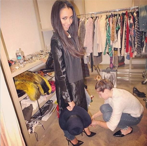 Kat Graham gave us a behind-the-scenes peek at her wardrobe. Source: Instagram user katgrahampics