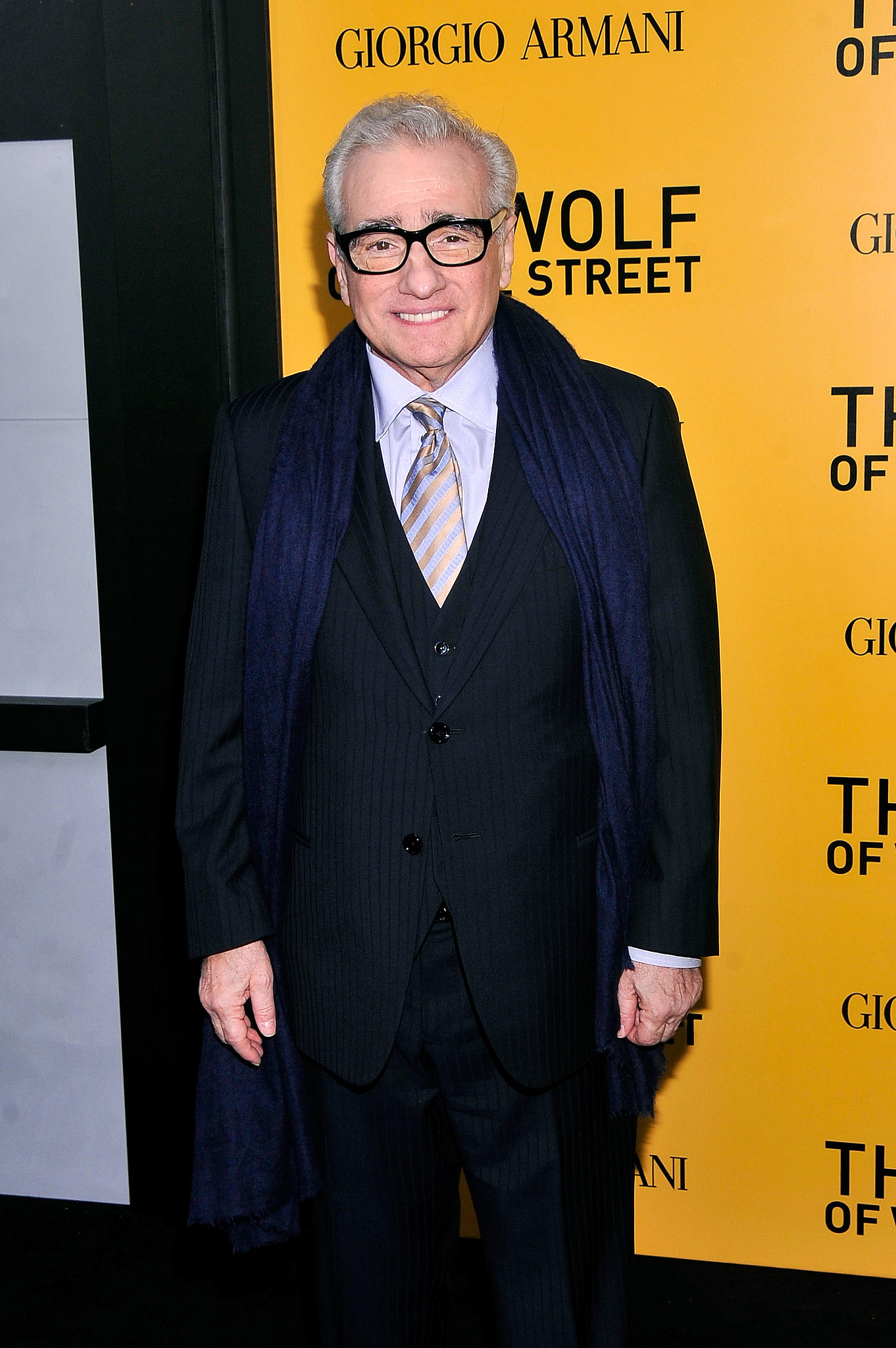 Director Martin Scorcese was on hand to premiere The Wolf of Wall Street.