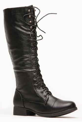 Bamboo Fighter High Length Combat Boot @ Cicihot Boots Catalog:women's winter boots,leather thigh high boots,black platform knee
