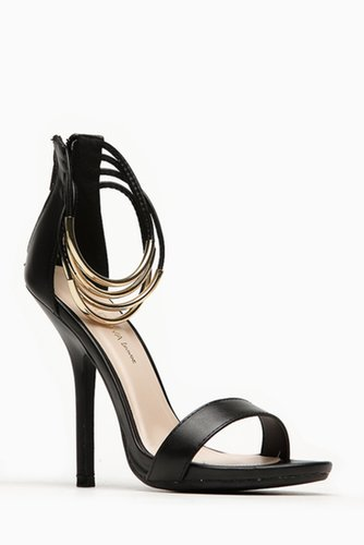 Wild Diva Bangle Ankle Strap Black Heels @ Cicihot Heel Shoes online store sales:Stiletto Heel Shoes,High Heel Pumps,Womens High