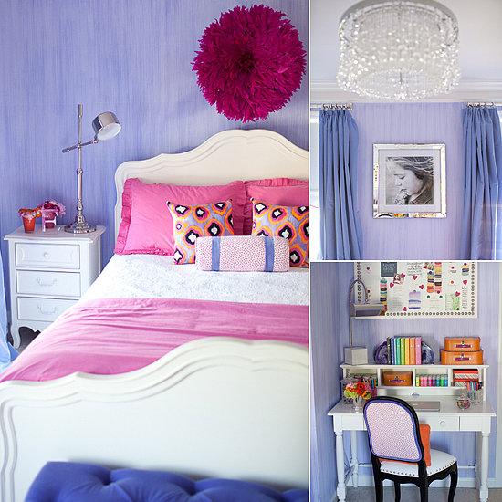 Purple Kids Room: Kids' Rooms: A Pink, Purple, And Posh Big-Girl's Room