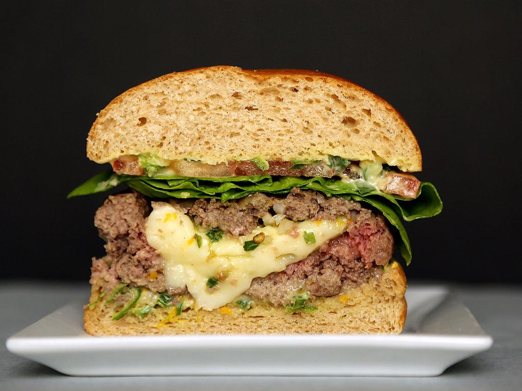 Intermediate: Brie-Stuffed Burgers