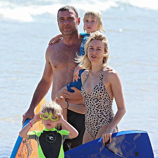 Naomi Watts and Family at Bondi Beach Pictures