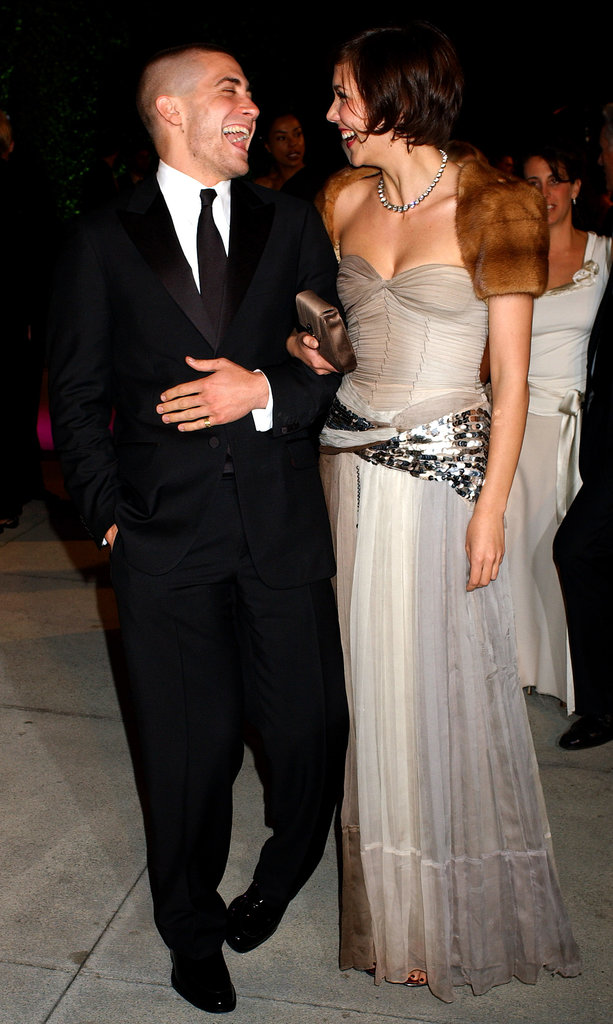 Jake and his sister, Maggie Gyllenhaal, were in stitches at the 2005 Vanity Fair Oscars party in LA.