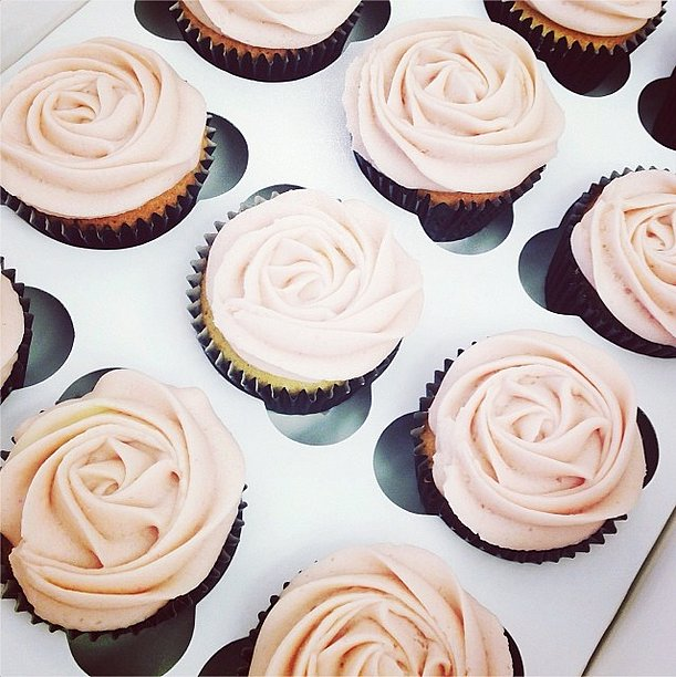 These delicate cupcakes were almost too pretty to eat . . . almost! Source: Instagram user netaporter
