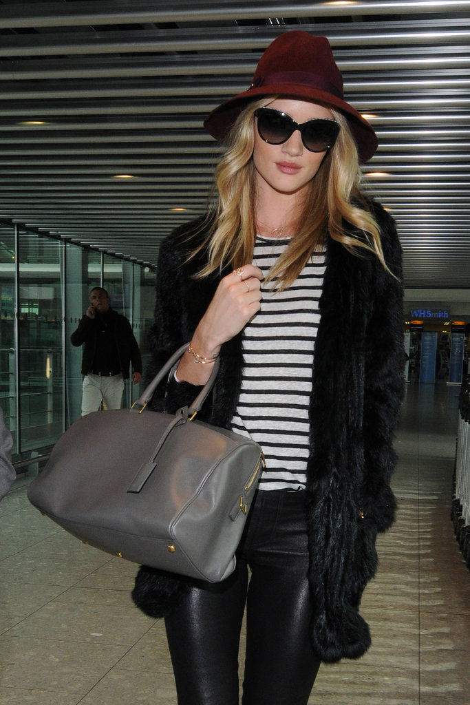 Rosie Huntington-Whiteley used her mushroom hued bag as ...