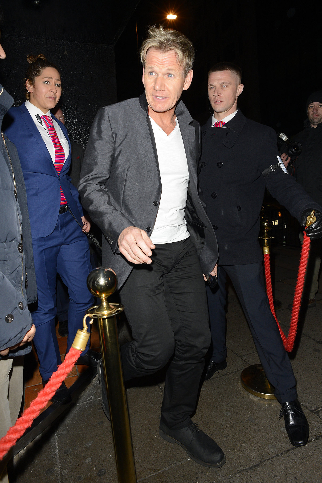 Gordon Ramsay hit Chakana Club with David, while their wives partied at a separate location.