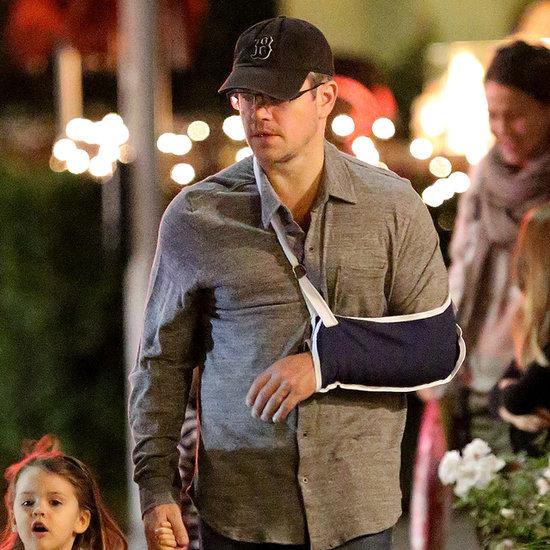 Matt Damon With an Injured Arm in LA