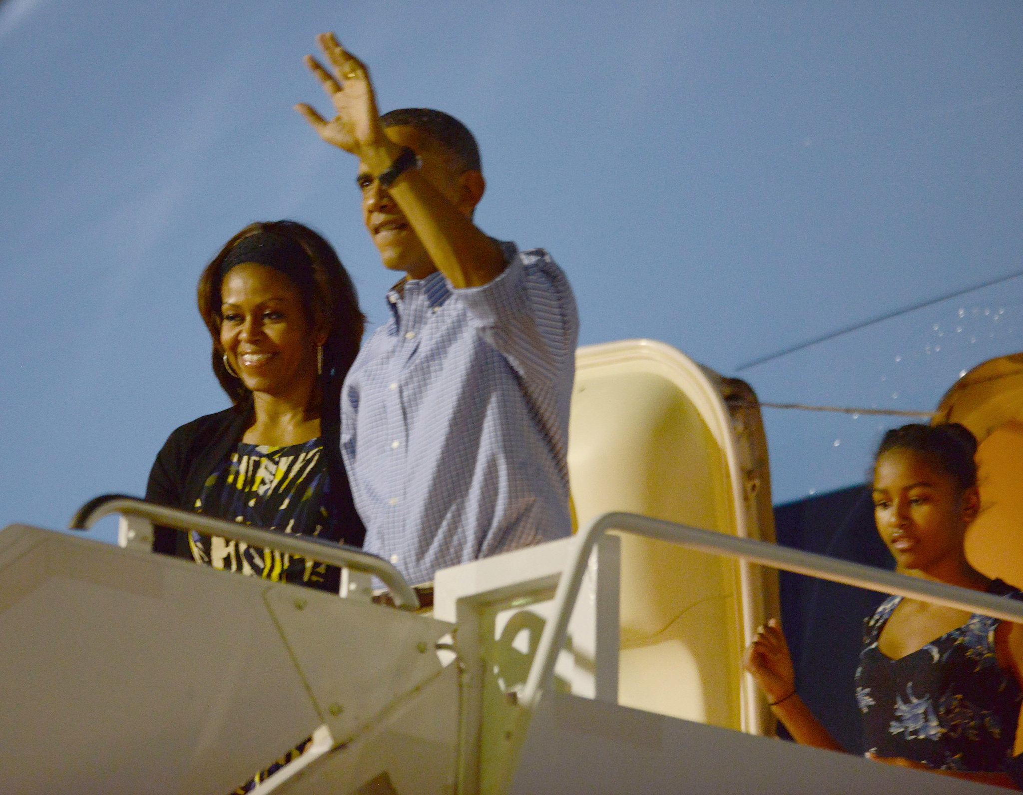 The Obamas Touched Down in Honolulu For a Mele Kalikimaka