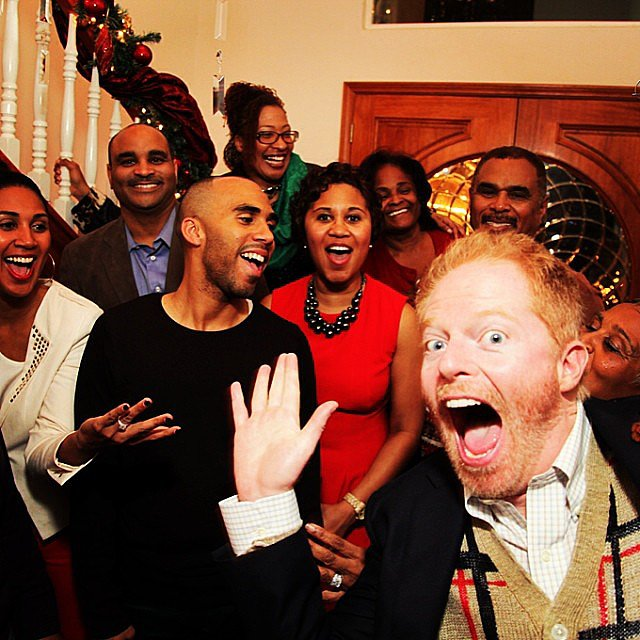 Jesse Tyler Ferguson shared an amazing photobomb. Source: Instagram user jessetyler