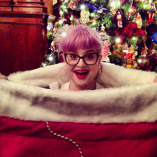 Kelly Osbourne looked like she was hanging out in a giant stocking. Source: Instagram user kellyosbourne