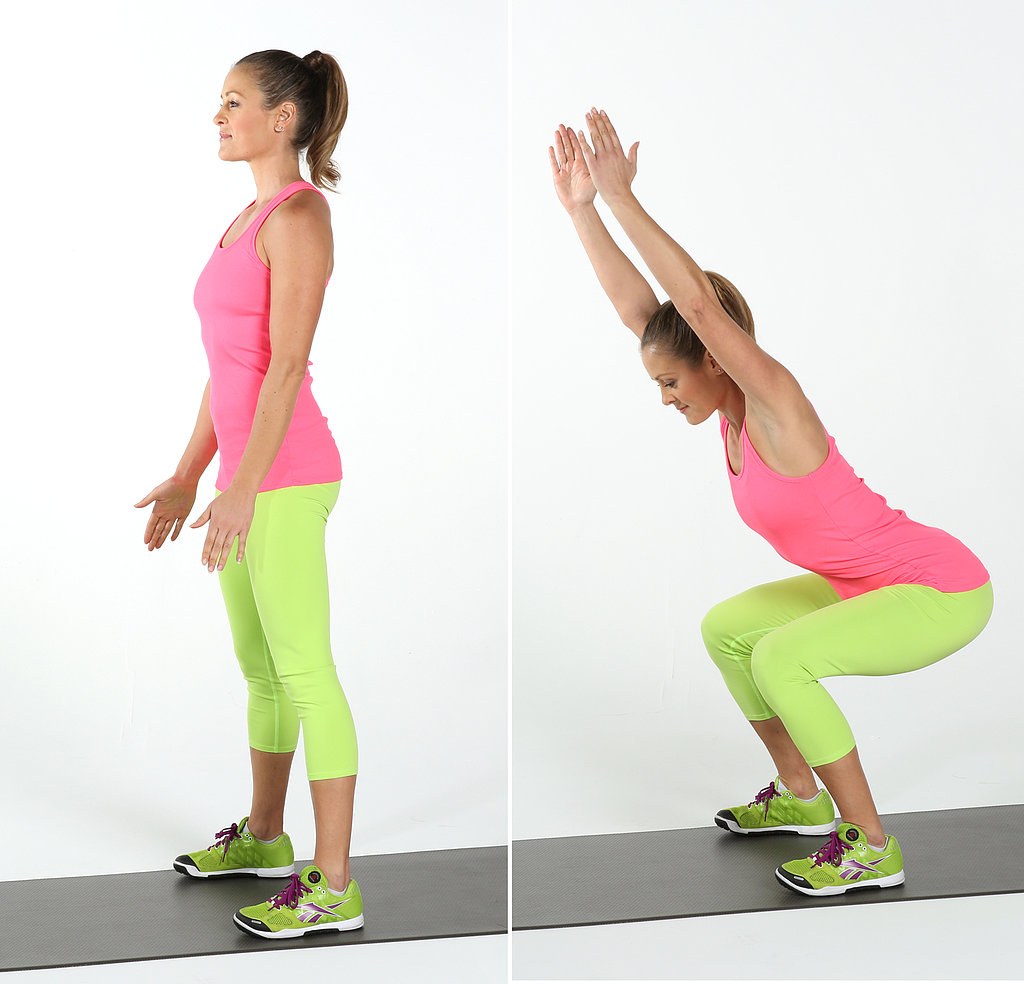 Upper Body and Core: Squat and Reach
