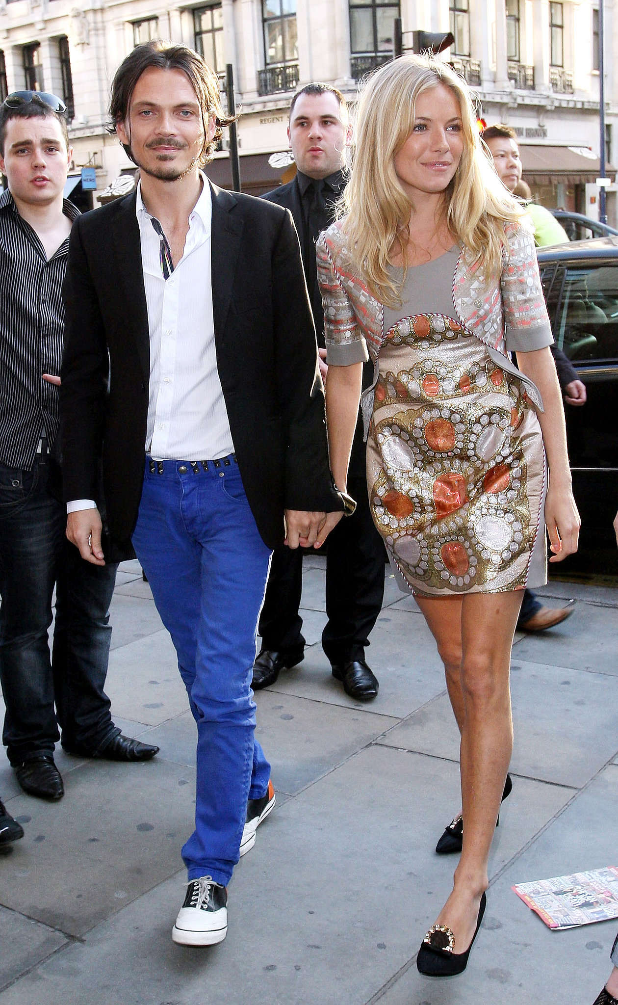 Sienna took a stroll with Matthew Williamson for the designer's H&M launch in 2009.