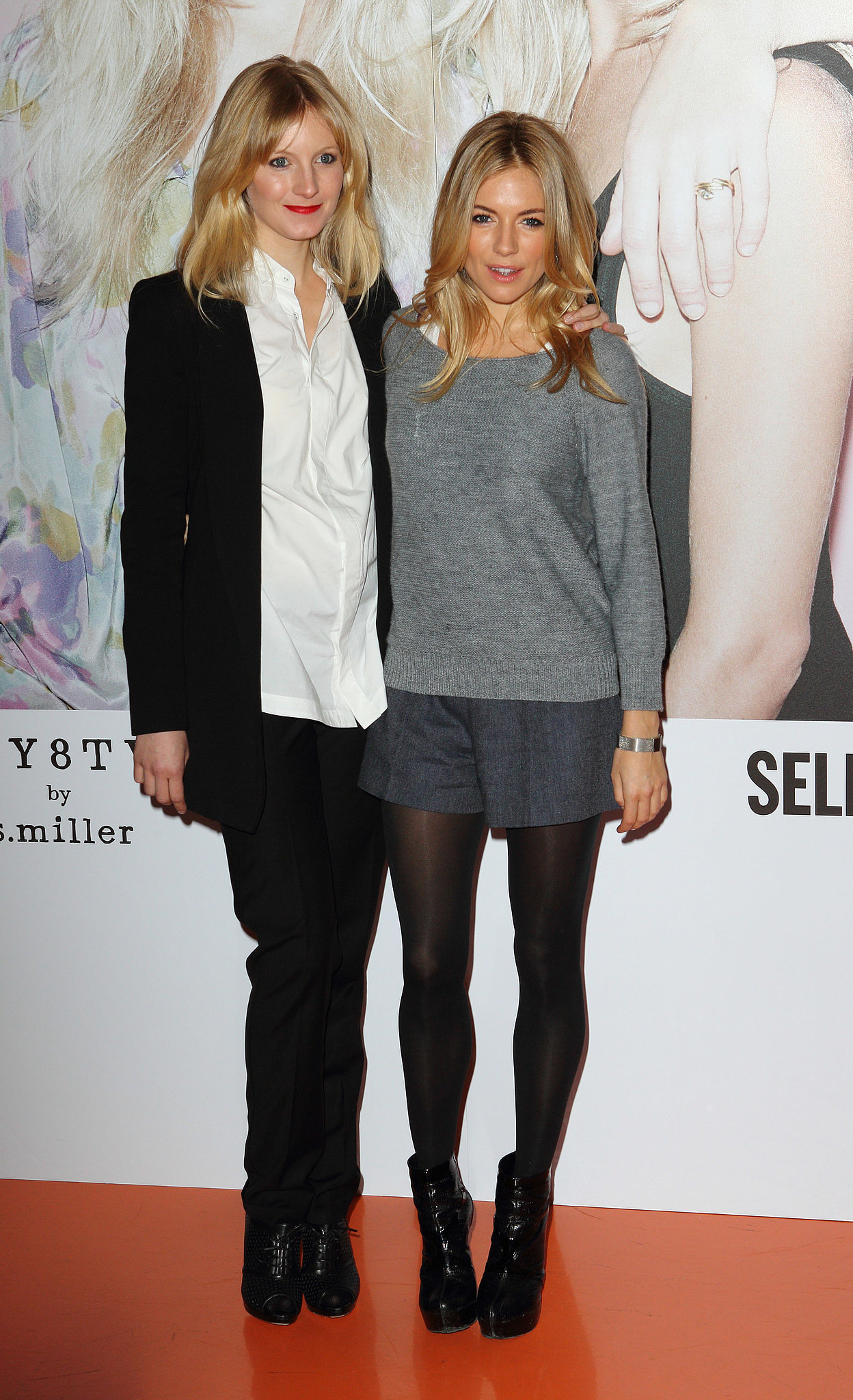 Sienna coordinated, in neutral colors, with sister Savannah in March 2011.