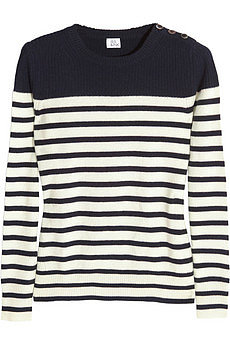 Bella striped cashmere sweater