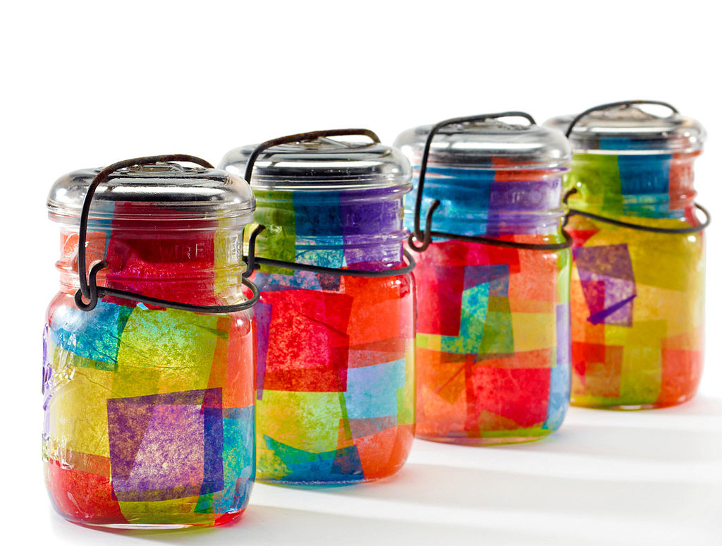 Mason jar crafts for kids popsugar moms for Projects to do with mason jars