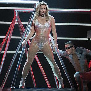 Celebrities at Britney Spears Las Vegas Concert Debut