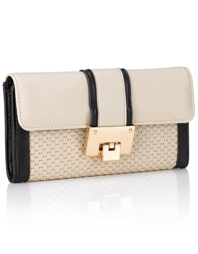 Abbey Contrast Block Long Wallet